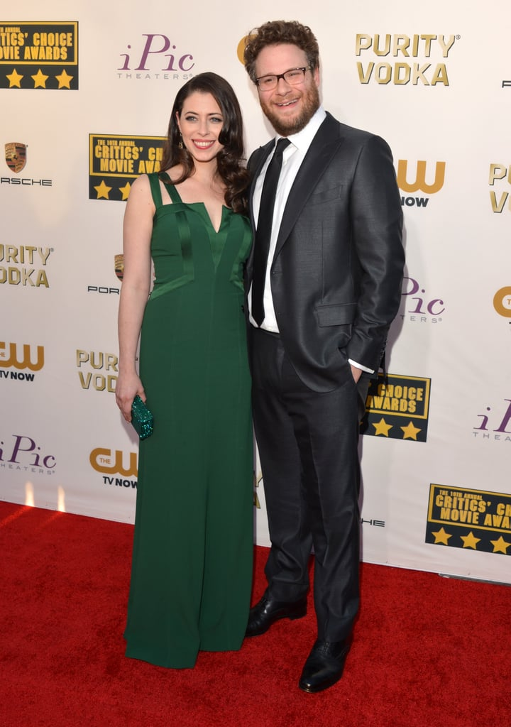 Seth Rogen was all smiles at the Critics' Choice Awards alongside his wife, Lauren Miller.