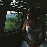 """""""Shortly after finishing Anthony and Natalie's portraits in a beautiful pasture in the English countryside, we hopped in a 1967 VW bus. As we were heading out, Natalie took a quiet moment for herself, reflecting on the day thus far and looking forward to what will come."""" — John Schnack"""