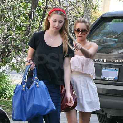 Lauren Conrad and Whitney Port Filming the Hills in LA