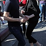 Anne Hathaway danced with her husband, Adam Shulman, at the One Billion Rising event in Hollywood.