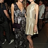 Louise Roe and Rose Byrne strike a pose.