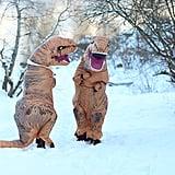 T-Rex Engagement Photo Shoot