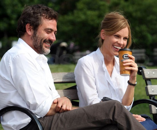 Photo Slide of Jeffrey Dean Morgan and Hilary Swank Filming in NYC