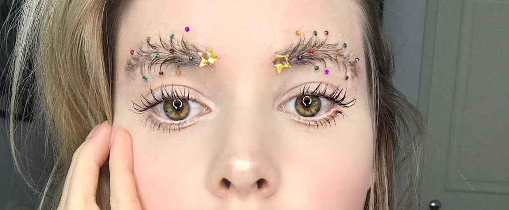 Deck Your Brows With Bells and Holly For Christmas Tree Eyebrows