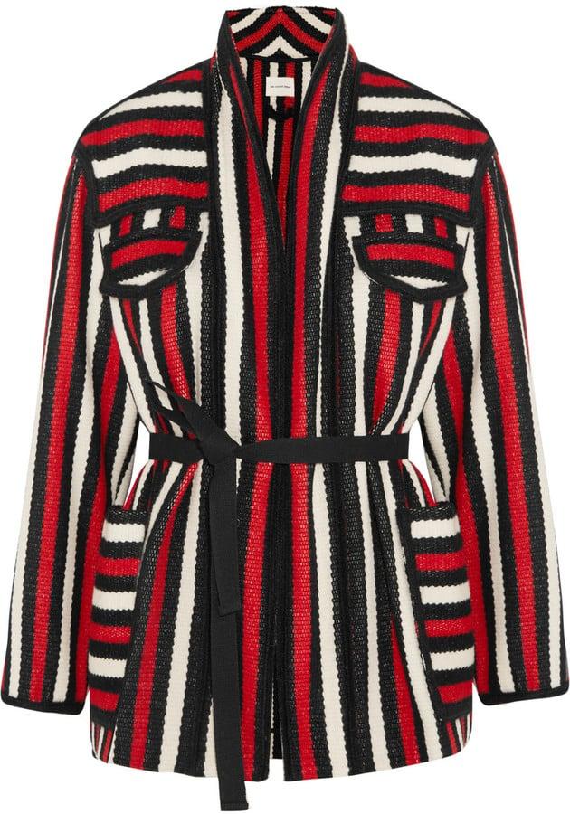 Étoile Isabel Marant Breeda Striped Wool-Blend Coat ($615)