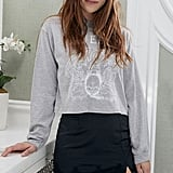 UO Amber Lace Trim Mini Slip Skirt and Day Queen Crest Long Sleeve Tee