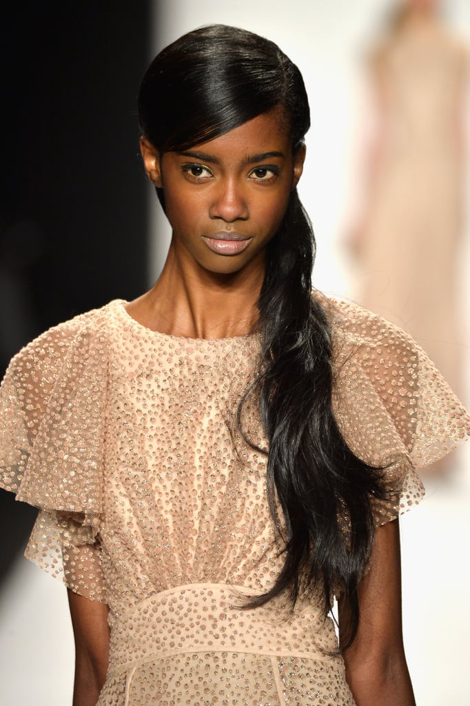 Badgley Mischka Fall 2014 Hair and Makeup | Runway Pictures