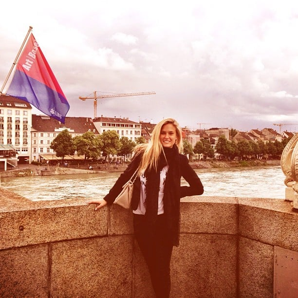 Bar Refaeli did some sightseeing at Art Basel. Source: Instagram user barrefaeli