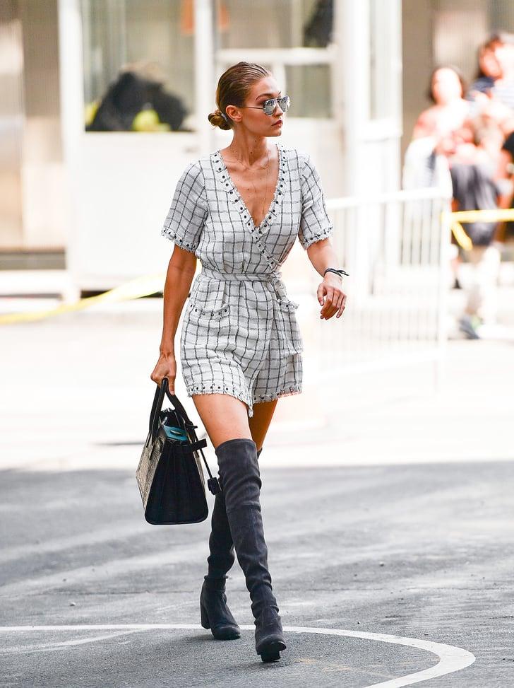 Gigi Hadid Wearing Stuart Weitzman Boots Popsugar