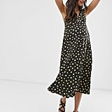 ASOS DESIGN Maternity exclusive button through pansy print midi sundress | ASOS