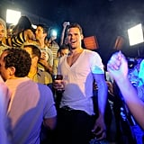 Kris Humphries hit the dance floor at Lavo.