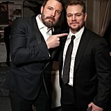 Best buds Ben Affleck and Matt Damon stuck together at Amazon's Golden Globes party in 2017.