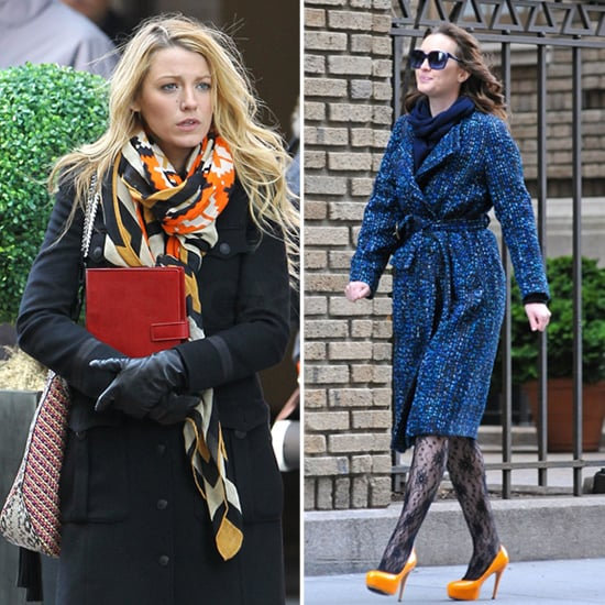 Blake Lively Orange and Blue Scarf