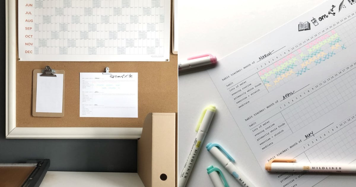 This Free, Printable Habit Tracker Will Help You Stick to Your New Year's Resolutions