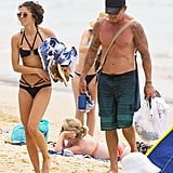 AnnaLynne and Dominic packed up their things.