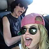 Ashley Benson shared a silly snap while on her way to the desert. Source: Instagram user itsashbenzo