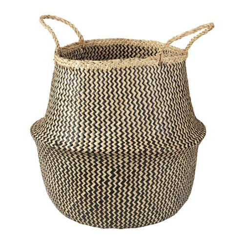 To all the mamas out there — this basket ($29.99) is great for toy storage and approved for the living room!
