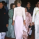 Princess Diana at a Reception in Pakistan