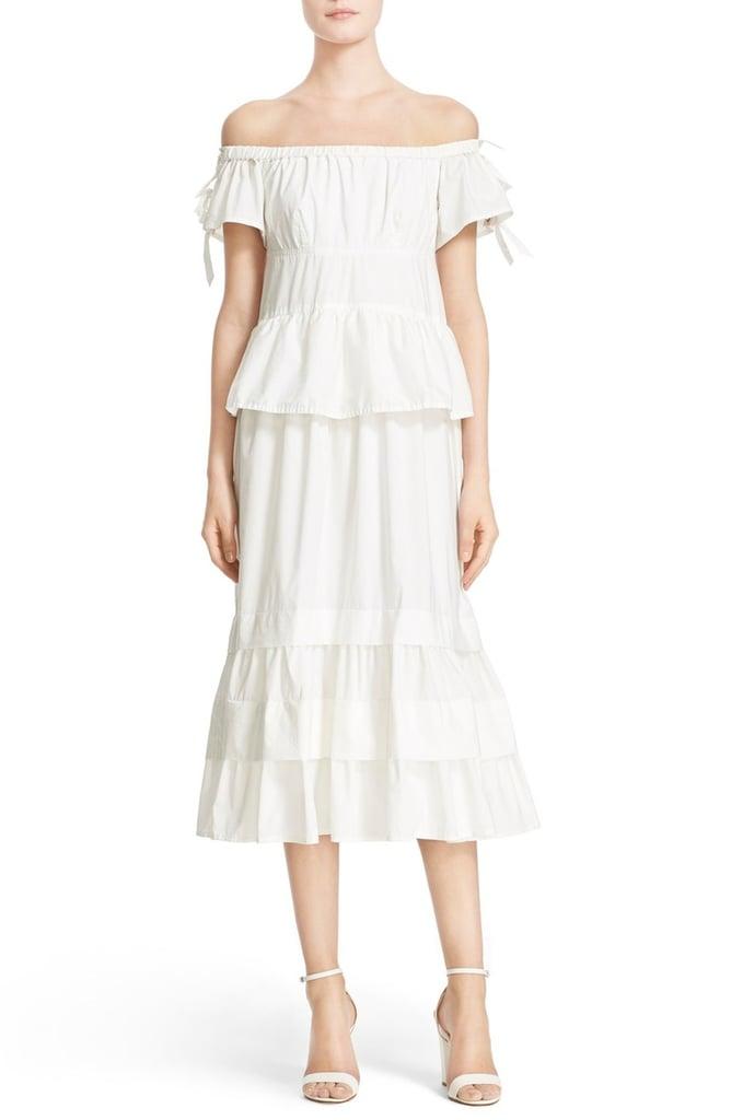 Rebecca Taylor Off the Shoulder Dress ($495) | White Dresses For ...