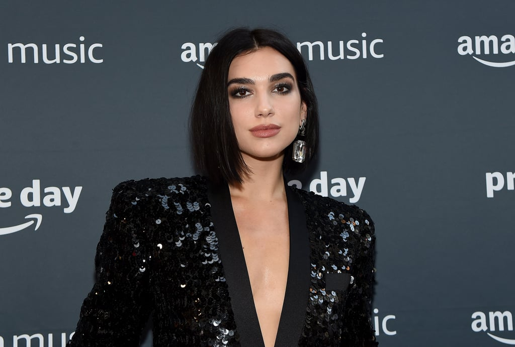 See Dua Lipa's Crystal French Manicure