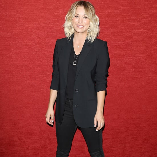 Kaley Cuoco Wearing Dior Sneakers at Burning Bodhi Opening