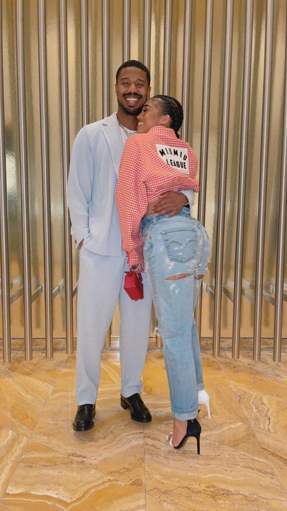 Lori Harvey Wears Miu Miu With Michael B. Jordan in Vegas