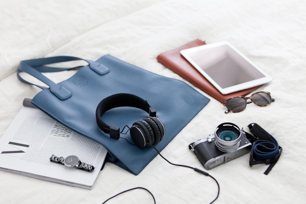 Headphones or ear buds.