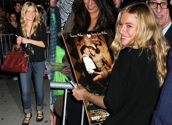 Photos Of Sienna Miller Signing Autographs After Her Broadway Debut In After Miss Julie With Jonny Lee Miller and Malin Ireland