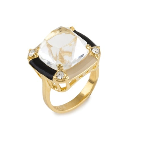 Maybe it's just me, but thick cuffs, heavy bangles, and mega necklaces can feel too hot on my skin to wear when the weather really gets steamy. The accessory exception? A major ring. I love Lele Sadoughi and want this ring ($90) on my fingers all Summer long. — LM