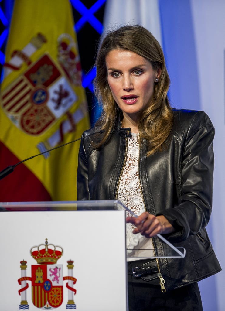 She took the podium in Santander during an October 2013 event.