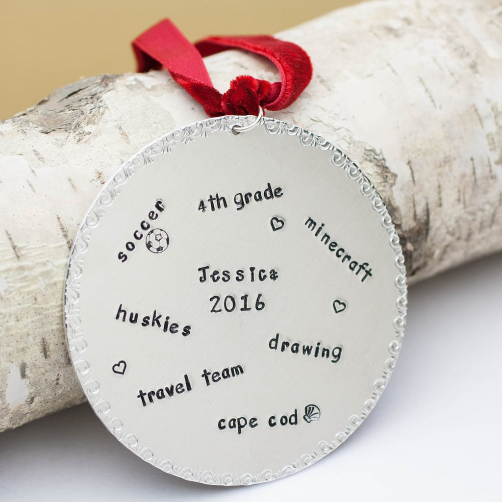 Personalized ornaments for kids - Stamped Interests Kid Ornament