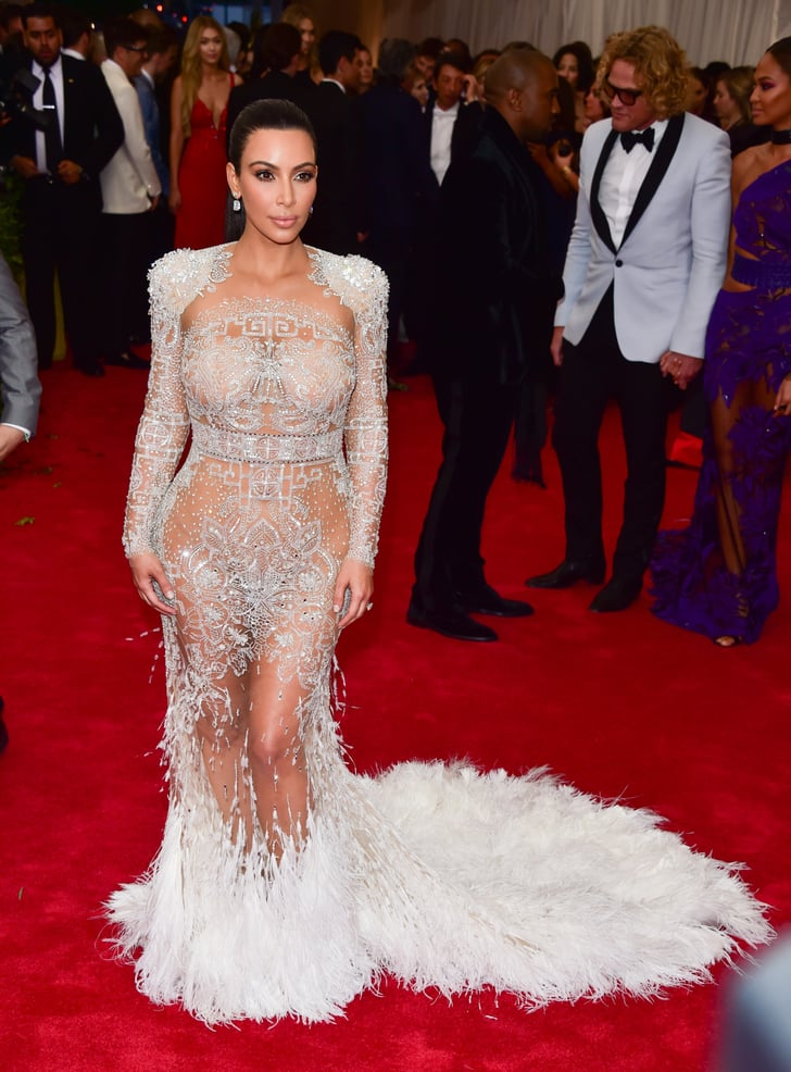 Kim Kardashian Adorned Her Curves With Feathers And