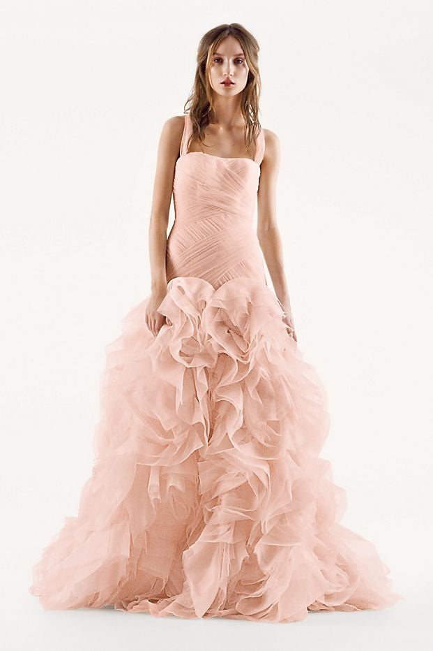 White By Vera Wang Organza And Satin Wedding Dress 15 Pink