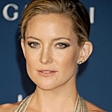 It was a sleek, smoky eye for Kate Hudson, who balanced the dramatic makeup look with a messy chignon and neutral lipstick.