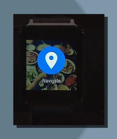 From Pinterest, swipe left to start navigation.