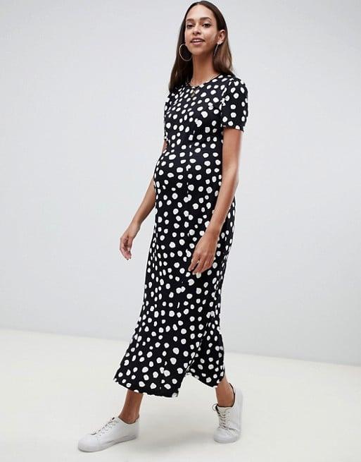 ASOS DESIGN Maternity maxi tea dress in polka dot  | ASOS