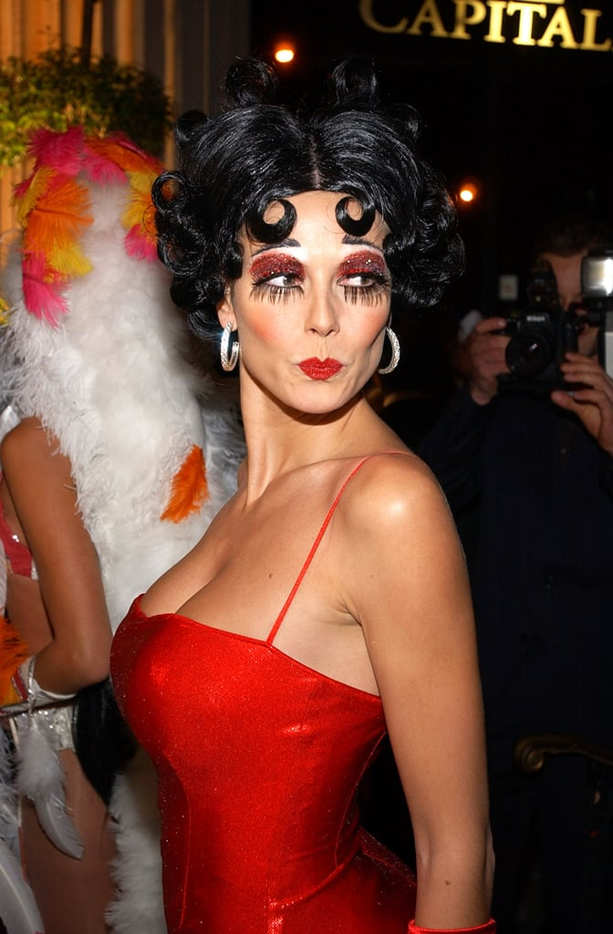 For her Halloween bash in 2002, Heidi did an awesome take on Betty Boop's iconic beauty look.