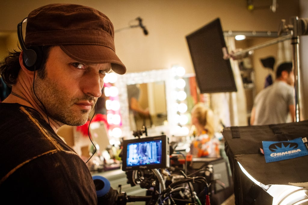 Director Robert Rodriguez on the set of Machete Kills. Source: Open Road Films