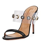 Aquazzura Galaxy Studded Illusion Mule Sandal