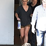 Britney Spears walked out of the hotel in LA where she had an Elizabeth Arden photo shoot.