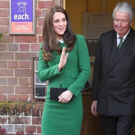 Duchess Kate's Hobbs London Green Suit Jacket Jan. 2017