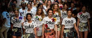 Dolce & Gabbana Takes You to the Tropics, Covered in Lace, Sequins, and Opulence