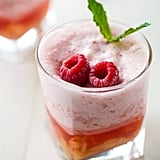 Frosted Raspberry Lemonade With Peaches