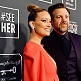 Olivia Wilde and Jason Sudeikis at the 2020 Critics' Choice Awards