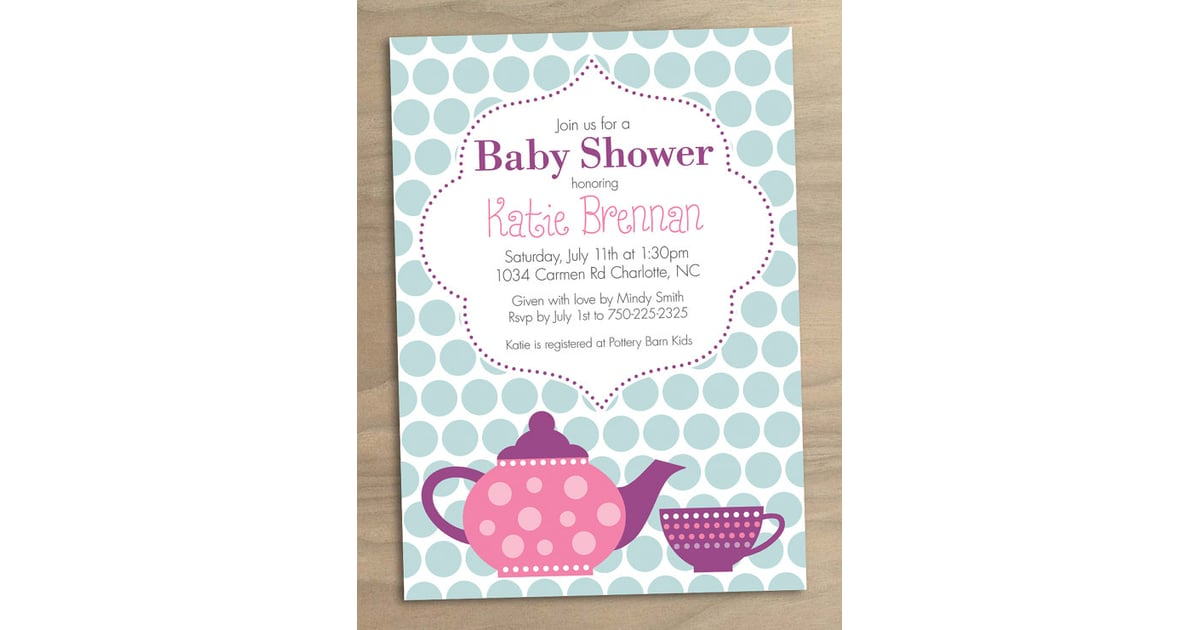 Printable Tea Party Baby Shower Invitation 15 – Tea Party Baby Shower Invitation