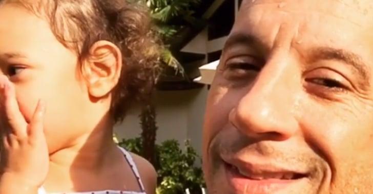 Vin Diesel Swimming With Kids Instagram June 2016 ...
