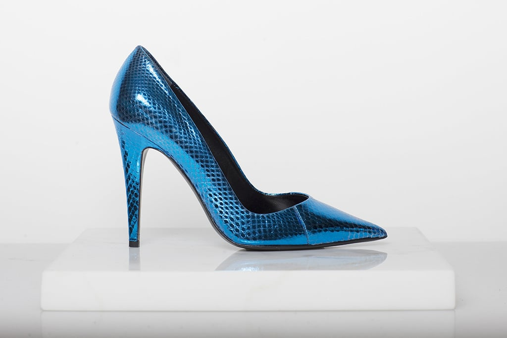 Addiction Watersnake Pump in Turquoise ($795) Photo courtesy of Tamara Mellon