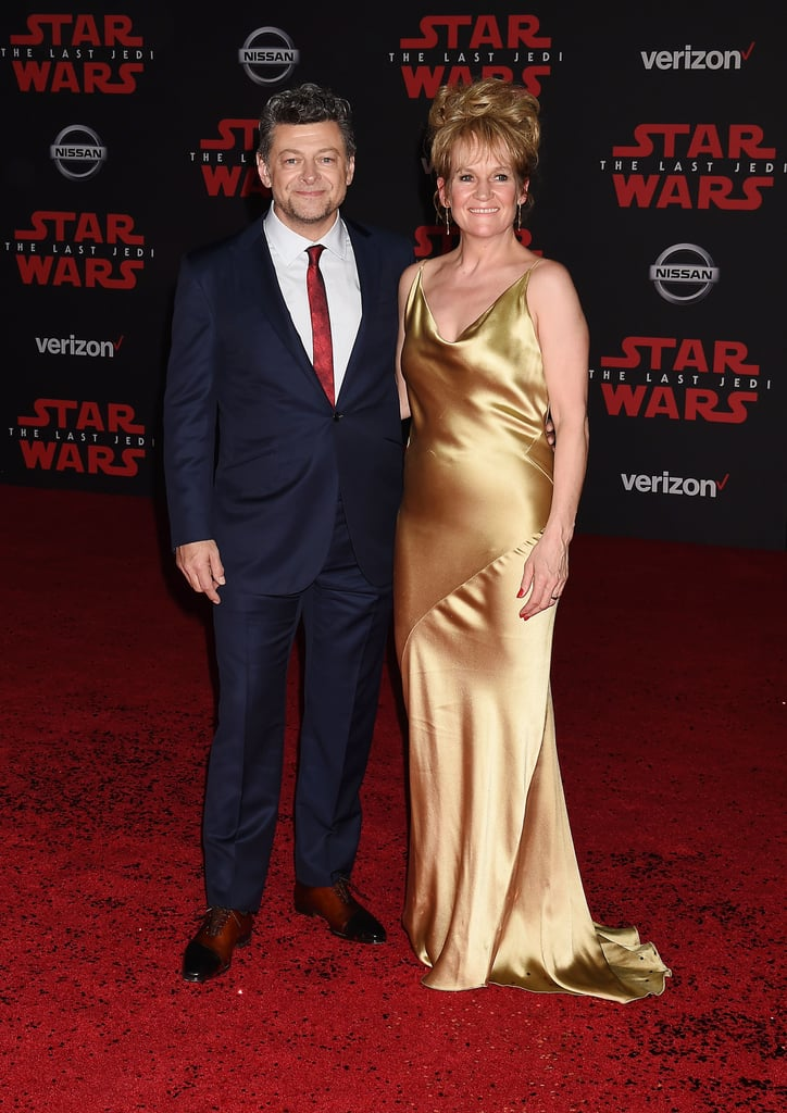 Pictured: Andy Serkis and Lorraine Ashbourne