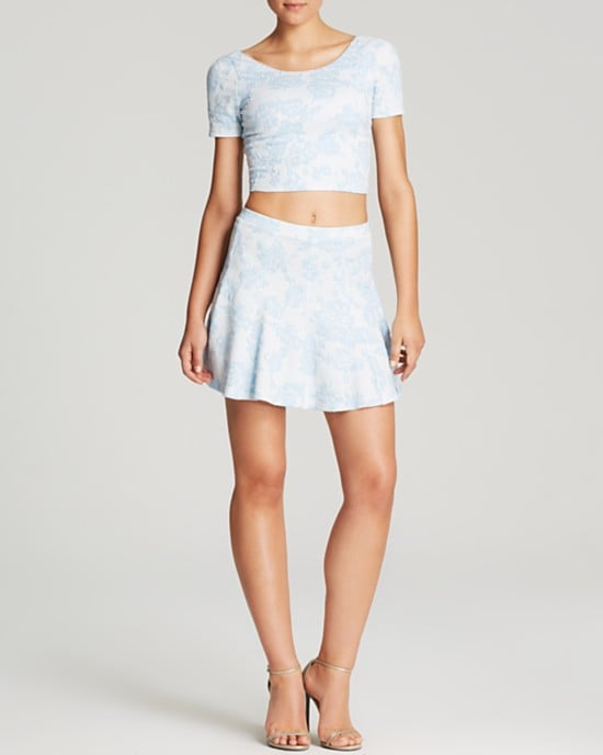 Aqua Top and Skirt ($116)