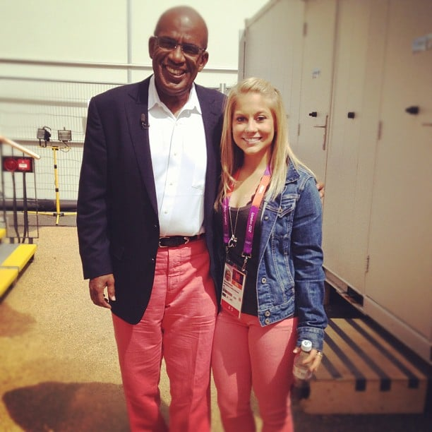 Shawn Johnson and Al Roker shared similar taste in pant colors. Source: Instagram user shawnjohnson